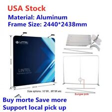 US Stock 8ft High Portable Tension Fabric Exhibition Display Wall (Frame Only)