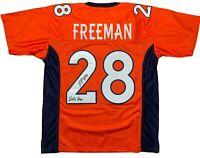 Royce Freeman autographed signed inscribed jersey NFL Denver Broncos JSA COA