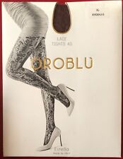 Oroblu Lace 40 Tights pantyhose Bordeaux XLarge