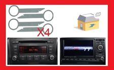 cles extraction autoradio  symphony rns e audi a4 a6 tt 2003-2005