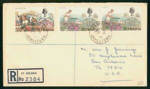 Mayfairstamps St Helena 1972 Registered to San Antonio TX cover wwo1393