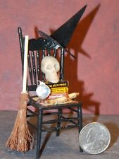 Dollhouse Miniature Halloween Chair Skull 1:12 one inch scale F16 Dollys Gallery