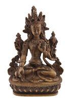 Soprammobile Tibetano Da Verde Tara IN Resina Beige Budda 15 CM 7018