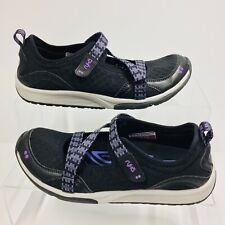 Ryka Womens Black Purple Size 8.5M Kailee Mary Janes Arch Support Comfort Flats