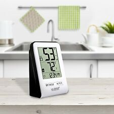 La Crosse Technology 308-1409WT-CBP Wireless Temperature Station with Time White