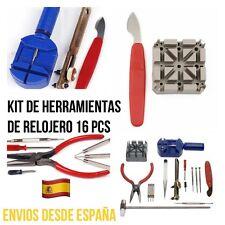 Kit Set De Herramientas De Relojero 16 pcs Reparación De Relojes