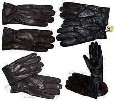 Lot of 4. Men's leather gloves, (XL) Black Unbranded hand warmer winter gloves