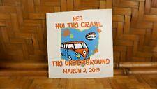 NEO Hui Tiki Crawl Tiki Underground Car Sticker Moai Atomic Tiki Bar SH101
