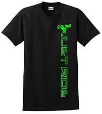 FMX FREESTYLE MOTOCROSS T SHIRT JUST RIDE MX MOTO DIRT BIKE S-M-L-XL-2XL-3XL-4XL