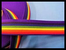 25MM RAINBOW ELASTIC - SOLD BY THE METRE
