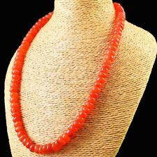 405.00 Cts Earth Mined Orange Carnelian Round Shape Beads Necklace NK 25E125