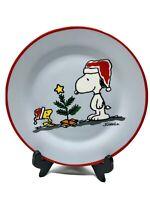 Peanuts Charlie Brown -Snoopy- Woodstock Christmas Plate- Schulz -14 Oz - 2017