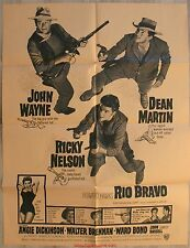 RIO BRAVO Affiche AMERICAINE / Movie Poster John Wayne One sheet