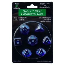 Polyhedral: Translucent Dark Blue/Light Blue (7)