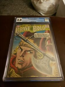 The Brave and the Bold #21 CGC 3.0 Grey tone Viking Prince & Silent Knight 1959