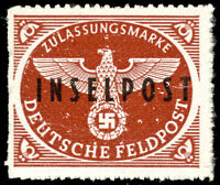 Germany Fieldpost #Mi9 MNH CV€600.00 1944 INSELPOST OVERPRINT [Some Faults]