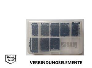 DIN 7991 mit Senkkopf Sortiment/Set 1000 Teile SCHWARZ EDELSTAHL A2 M3