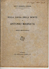 Libro Autografo Giuseppe Cardon Sulla Causa Morte Masnata Perizia Medico Legale