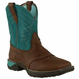 """Ariat Anthem Shortie Square Toe  Womens  Boots   Ankle Low Heel 1-2"""""""