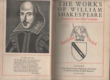 THE WORKS OF WILLIAM SHAKESPEARE GATHERED INTO ONE VOLUME HEAD PRESS 1934