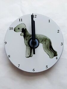 Bedlington Terrier CD Clock by Curiosity Crafts