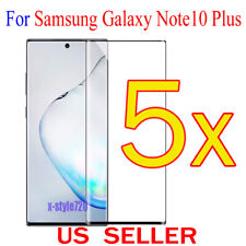5x Full Cover Curved Clear Screen Protector Guard For Samsung Galaxy Note10 Plus
