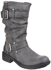 Women's Rocket Dog Trumble Rounded Toe BOOTS in Black UK 7 / EU 40