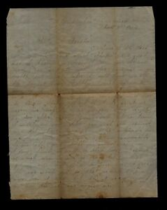 Confederate CIVIL WAR LETTER - 3rd Georgia Infantry at Chesterfield Station, VA