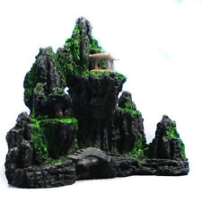 Mountain View Aquarium Ornament Rock Cave Stone Tree Bridge Tank Decoration