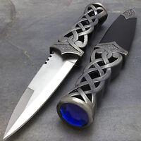 "9"" MEDIEVAL SCOTTISH HIGHLAND CELTIC SGIAN DUBH KNIFE DAGGER w/ SCABBARD"
