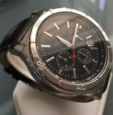 Mens Genuine Hugo Boss Chronograph Designer Watch Black Leather 1512584