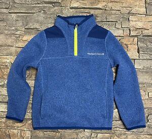 Vineyard Vines Boys Girls 1/4 Zip Fleece Pullover Jacket Sz 5 Whale Blue