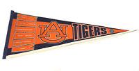 Vintage 90's Auburn University Tigers Orange, Blue & White NCAA Pennant