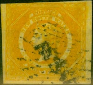 New South Wales 1854 8d Golden Yellow SG97 Good Used