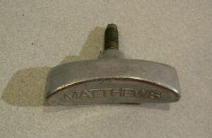 "Matthews 5/16"" T Knob, Large Lock Off Knob Studio Light C-Clamp Pan or Stand"