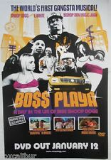 SNOOP DOGGY DOGG Boss Playa Rare Original Official UK Record Company POSTER