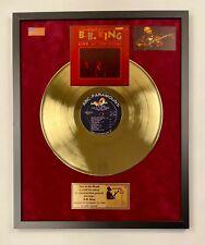 Live At The Regal (1965) - B.B. King Gold Vinyl Record In Frame Red Velvet Back