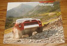 Original 2014 Toyota 4Runner Sales Brochure 14