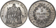 France: 5 Francs silver 1877 A (Paris mint) - XF