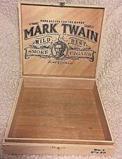Mark Twain Wooden Cigar Box No. 1 new WOT