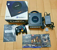 Nintendo GameCube Black console 3games(BIO HAZARD) memory card box Japan NTSC-J