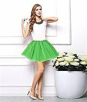 Women Girls Tulle Fibers 3 Layered Ballerina Tutu Skirt W/ Stretch Waist