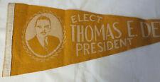 Elect Thomas Dewey President Campaign Pennant Vote Political Election - BQ135