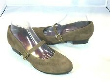 Munro American Brown Suede Mary Jane Style  Comfort Women Shoes Size 9.5 M