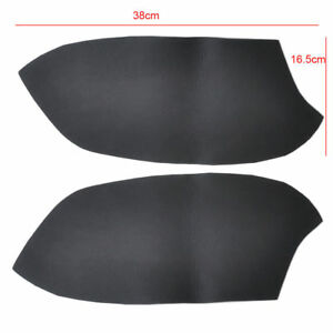 Black 2 Pcs Leather Front Door Panels Armrest Covers For Honda Accord 2008-2012