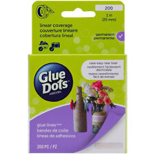 "Glue Dots Clear Glue Line Roll-1"" 200/Pkg"