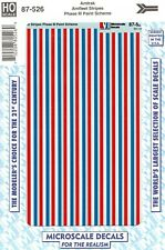 HO Scale Microscale 87-526 Amtrak Phase III Amfleet Stripes Decal Set