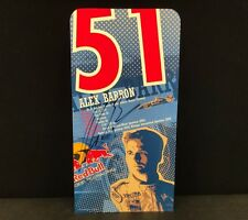 Alex Barron Signed Red Bull Racing Autographed Signature