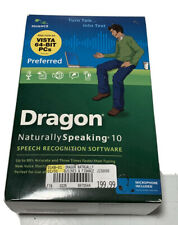 NUANCE DRAGON NATURALLY SPEAKING PREFERRED 10 SPEECH RECOGNITION + HEADSET NEW