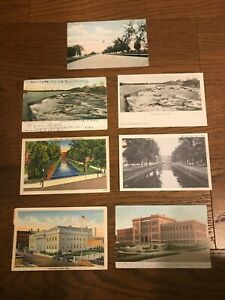 Lowell MA Lot of 7 Old Postcards ~ Massachusetts